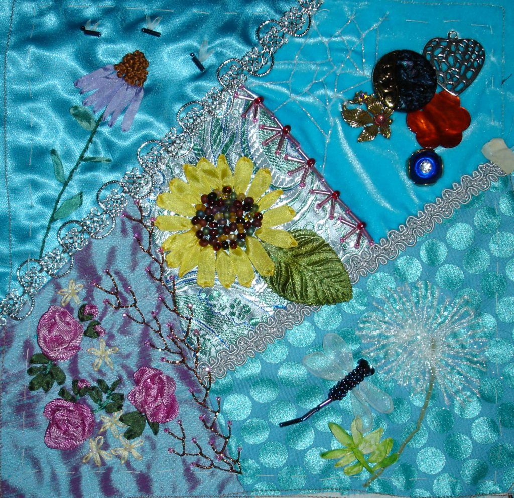 Crazy quilting/embellishing